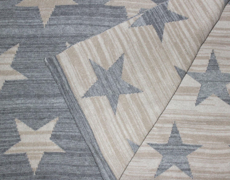 96023 lorenzo cana baumwolldecke wohndecke sterne wolldecke grau. Black Bedroom Furniture Sets. Home Design Ideas
