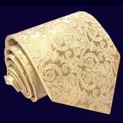 25014 LORENZO CANA Krawatte 100% Seide Hellgelb Creme Ivory Hochzeit