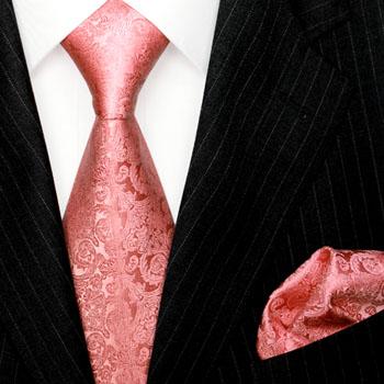 2502501 LORENZO CANA Rosa Krawatte Einstecktuch Hochzeit 意大利真丝领带