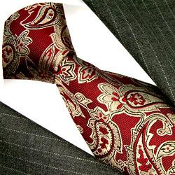 36035 Krawatte Seide Paisley Seidenkrawatte LORENZO CANA イタリアのシルクネクタイ