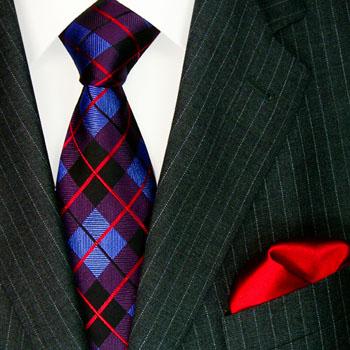 3604702 LORENZO CANA Krawatte Seide Einstecktuch Purple Neck Tie Set