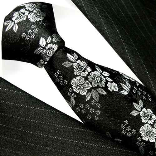 36078 Floral Barock Blume Ranken Krawatte Seide LORENZO CANA Silk Tie