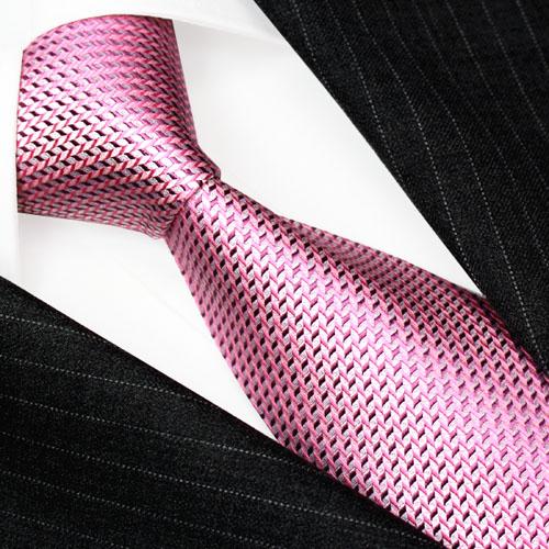 42014 Rosa Krawatte 100% Seide Schlips LORENZO CANA Silk Neck Tie