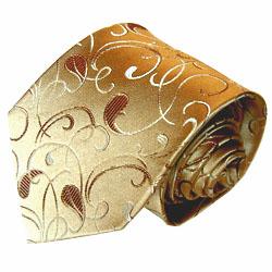 42015 LORENZO CANA  goldene Design Krawatte 100% Seide Paisleymuster