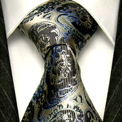 42045 Floral Barock Blume Ranken Krawatte Seide LORENZO CANA Silk Tie