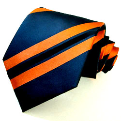 77018 blau orange Streifen Krawate Seide LORENZO CANA галстук шелка