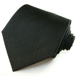 77068 LORENZO CANA schwarze Krawatte Seide Fischgrat Muster black tie