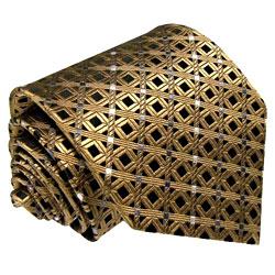 77092 LORENZO CANA Krawatte Braun Mocca Schwarz Brown Silk Neck Tie