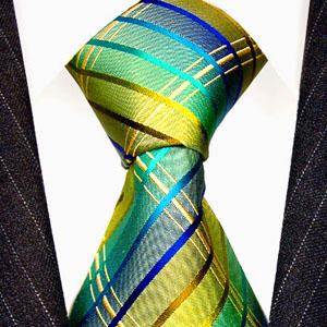 77106 grün karierte Krawatte Seide Karos LORENZO CANA Green Silk Tie