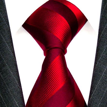 77164 LORENZO CANA Krawatte rot bordaux dunkelrot uni einfarbig Seide
