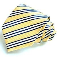 84008 gold blaue Krawatte Streifen LORENZO CANA Yellow Silk Neck Tie