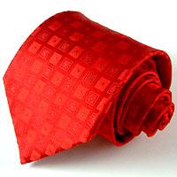 84013 LORENZO CANA  rot karierte Krawatte 100% Seide Karo Red Neck Tie