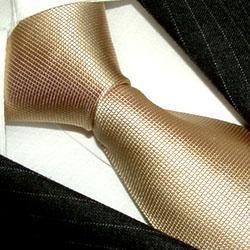 84110 braune Krawatte Schlips Binder LORENZO CANA Beige Silk Necktie