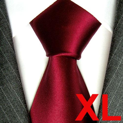 8413799 dunkelrot bordaux Extralange Krawatte XXL Seide LORENZO CANA