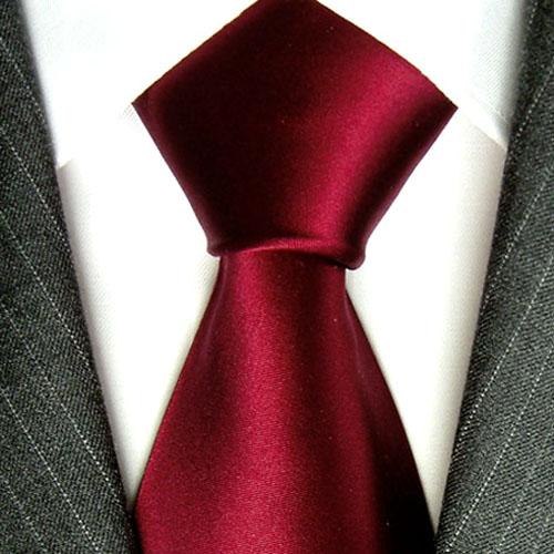 84137 LORENZO CANA Krawatte Rot Bordaux Rotbraun Uni Seide галстук