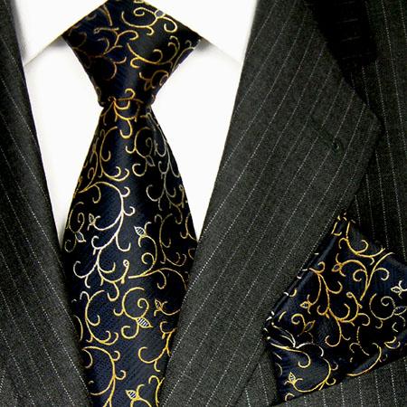 8417202 LORENZO CANA Krawatte Seide mit Einstecktuch Silk Necktie Set