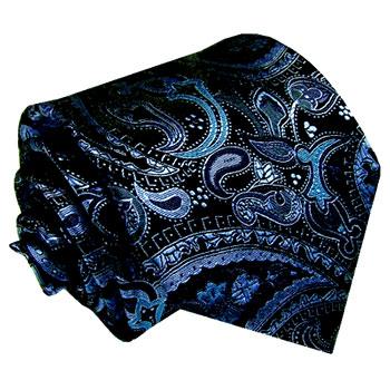 84177 Dunkelblaue Krawatte Paisley LORENZO CANA галстук шелка Necktie