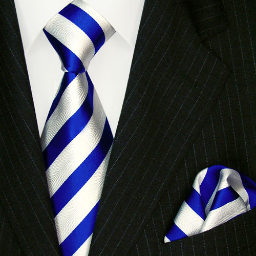 8418301 LORENZO CANA blau weiss Krawatte + Tuch Seide галстук шелка