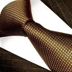84227 braune Krawatte Schlips Binder aus Seide LORENZO CANA