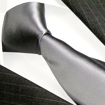 84331 Krawatte Silber Grau Silbergrau 100% Seide grey tie LORENZO CANA
