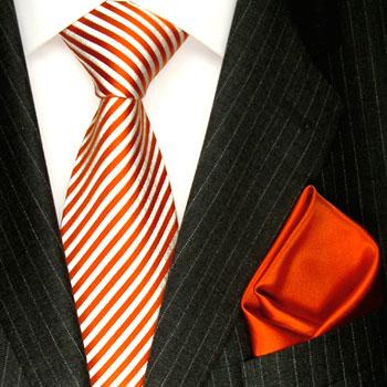 8436201 LORENZO CANA Seide Krawatte mit Einstecktuch Silk Neck Tie