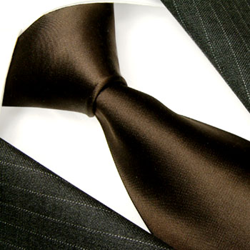 84369 dunkelbraun Krawatte Binder Seide LORENZO CANA галстук шелка