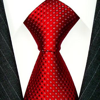 84467 LORENZO CANA Rot Schlips Weisse Punkte Итальянский галстук шелка