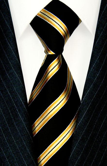 8450701 lorenzo cana gelb schwarz gestreifte krawatte mit. Black Bedroom Furniture Sets. Home Design Ideas