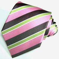 88014 rosa hellgrün rose Krawatte 100% Seide Schlips LORENZO CANA